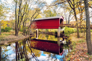 Sugar Creek Covered Bridge  Glenarm IL